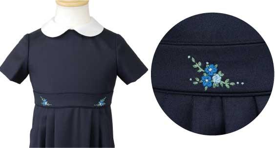 ワンピースへの刺繍例