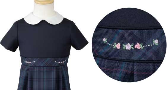 ワンピースへの刺繍例2