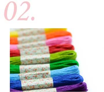 刺繍の色やデザインの選定