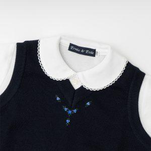 濃紺ベスト|オリジナル刺繍