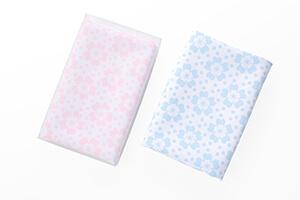 花柄風呂敷ピンク|ブルー(全2色)